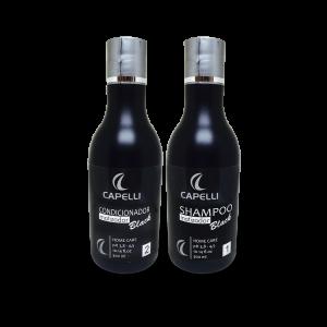 SHAMPOO E CONDICIONADOR BLACK PLATINIUM