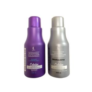 Shampoo e Máscara Silver Blue 300ml